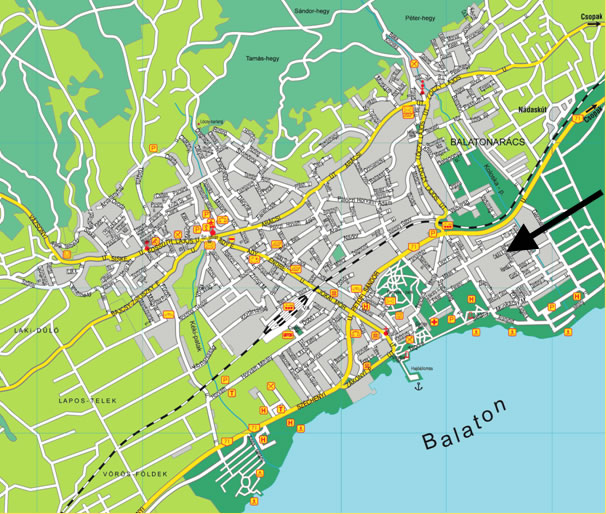 balatonfüred látnivalók térkép Balatonfüredi üdülőház, Balatonfüredi szállás, Balatonfüredi  balatonfüred látnivalók térkép